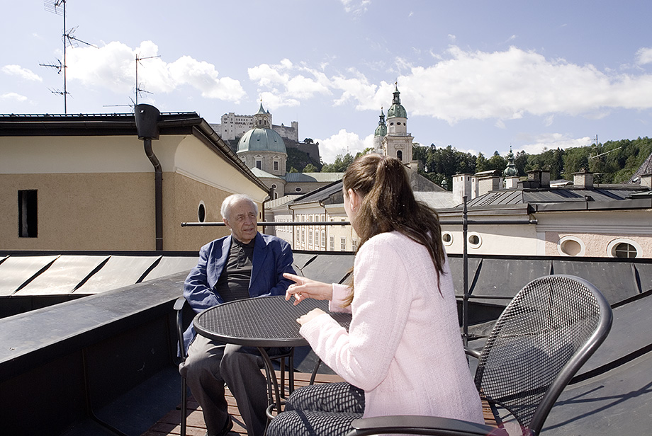 Pierre Boulez & Ann Kathrin Bronner, Salzburg 2005